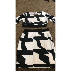 Black & white two piece
